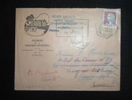LETTRE TP MARIANNE DE DECARIS 0,25F OBL.MEC.14-2-1963 PARIS XVIII+ CHATEAU GRESILLON BAUGE (49 MAINE ET LOIRE) ESPERANTO - 1960 Marianne De Decaris