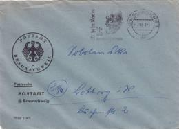 Postsache, Brief Mit Stempel: Braunschweig 4.11.1960 Und Stempelzudruck: Wilhelm Raabe 50.Todestag - BRD