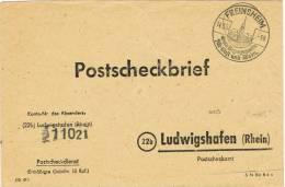1090// DEUTSCHLAND-BRD - Postscheck-Brief 1950 - Freinsheim 14.3.1950 - SST Bergquelle Für Obst Und Wein - BRD