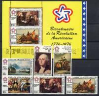 Togo 1976 US Bicentennial, Paintings Set Of 6 + S/s MNH - Unabhängigkeit USA