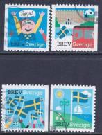 Sweden, Scott # 2654a-d Used Flags, 2011 - Sweden