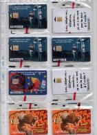 Télécarte Phonecard Neuve Sous Blister NSB LOT 8 Télécartes 50 Unités T2G Lot N° 1 - Francia
