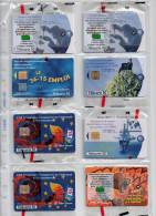 Télécarte Phonecard Neuve Sous Blister NSB LOT 8 Télécartes 50 Unités T2G Lot N° 3 - France