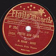 78 Tours - Etoile Musette 204 - ROrchestre Etoile Musette - FLOTTE MON COEUR - LE ROI DES CANARDS - 78 T - Disques Pour Gramophone