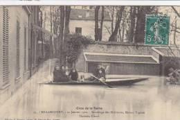 BOULOGNE - BILLANCOURT : Crue De 1910 -Sauvetage De La Famille Vignon - Simard 55 - Boulogne Billancourt