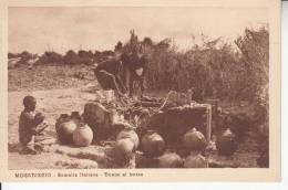 MOGADISCIO - SOMALIA ITALIANA DONNE AL POZZO VG 1926  BELLA FOTO D´EPOCA ORIGINALE 100% - Somalia