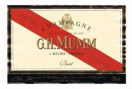 CHAMPAGNE  G.H. MUMM BRUT  GORDON ROUGE   ETIKET - Champagne