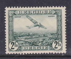 BELGIQUE N° PA N° 3 2F VERT AVION SURVOLANT NAMUR NEUF AVEC CHARNIERE - Posta Aerea