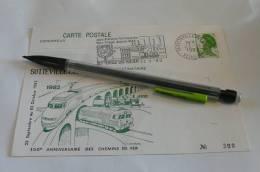 Sotteville Les Rouencarte Postale 150 ème Anniversaire Des Chemins De Fer Numérotée 300 Seine Maritime 76 Normandie - Sotteville Les Rouen