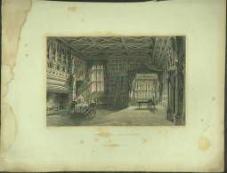 "An 1833 Engraving Of ""Speke Hall, Lancashire"" By 'E Challis'. - Prints & Engravings"