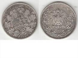 *Germany Empire 1/2 Mark 1906 G  Km 17  Vf+ - [ 2] 1871-1918 : Empire Allemand