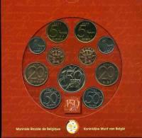 Belgique Belgium Coffret Officiel BU 50 Centimes à 50 Francs 2000 Français Et Flamands + Jeton 150 Ans De La BNB KM MS13 - 1993-...: Albert II