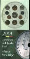 Belgique Belgium Coffret Officiel BU 50 Centimes à 50 Francs 2001 Français Et Flamands + Jeton Dernier Franc KM MS14 - 1993-...: Albert II