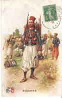 CPA  MILITARIA GUERRE 1914  LEON HINGRE ZOUAVES  VERSO PUB BOUGIE EYQUEM - War 1914-18