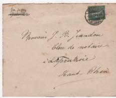 Envellope Reichenweier Riquewhir Pour Lapoutroie SCHNIERLACH Tampon Ostheim - Marcofilia (sobres)