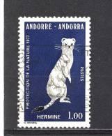 ANDORRE - Y&T N° 260° - Protection De La Faune - Hermine - Gebraucht