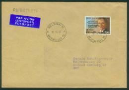 Finnland  1987  Komponist Leevi Madetoja  (1 Brief  Kpl. )  Mi: 1014 (0,30 EUR) - Lettres & Documents