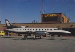 Intair Swearingen Metro Aircraft At Gatineau Airport Postcard (A24035) - 1946-....: Modern Era