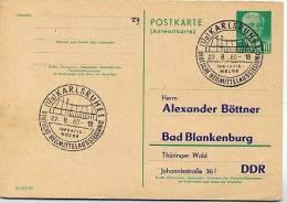 HEILMITTEL Karlsruhe 1960 Auf DDR P70 IA Antwort-Postkarte  PRIVATER ZUDRUCK BÖTTNER #1 - Handicap