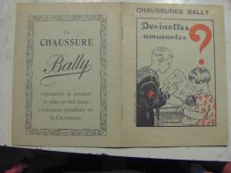 Livret Devinettes Amusantes Pub Chaussures BALLY Imageries D'Epinal (17/18) - Publicité