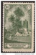 MA108-LA911TVSC.Maroc.Ma Rocco MARRUECOS ESPAÑOL PAISAJES Y MONUMENTOS 1928 (Ed 108**) Sin Charnela LUJO RARO - Planten