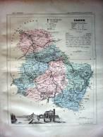 YONNE   CARTE ATLAS  XIXEME  EDITEURS FAYARD FRERES - Carte Geographique