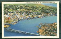 Jacksonville, FLA. And The ST. John's River From The Air  Um10 - Jacksonville