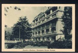 RB 911 - Early Postcard - Brenners Neuer Kurhof - Baden-Baden Germany - Baden-Baden