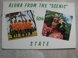HAWAII - Aloha From The Scenic 50th State -    Hula Dancers  D90691 - Stati Uniti