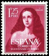 "España 1954 Edifil 1129 Sello ** III Cent. De Ribera ""El Españoleto"" Sta. Mª Magdalena Spain Stamps Espagne Timbre - 1951-60 Unused Stamps"