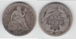 **** USA  - ETATS-UNIS  - 1 DIME - ONE DIME 1887 SEATED LIBERTY - SILVER **** EN ACHAT IMMEDIAT !!! - Federal Issues