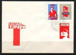POLAND FDC 1971 6TH PZPR PARTY CONGRESS United Workers Party Communism Socialism Cars Petrochemical Crane Mining Farming - History