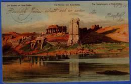 EGYPT, DIE RUINEN VON KUOMBO, Verlag: F.M. Cologne, 1905, Gelaufen Nach Kroisbach, Saubere 2 Fach Frankierung - Ägypten