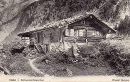CPA  -  Schweizerhauschen  -  Chalet Suisse -   Chateau D' Oex . 23 Aout 1910 - Suisse