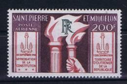 Saint-Pierre Et Miquellon, Yv Nr Aerienne 26 MH/* - Luchtpost