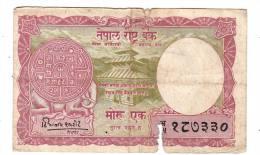 Billet -  Népal - 1 Rupee - Nepal