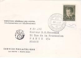 CARTE PAYS BAS 1957, GRAVENHAGE  Pour La FRANCE /3056 - Periodo 1949 - 1980 (Giuliana)