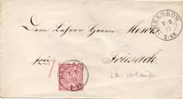 ALLEMAGNE DU NORD LETTRE BEESKOW 1871 - Norddeutscher Postbezirk