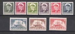 01639 Groenlandia Yvert 19-27 * Cat. Eur. 146,-  , Serie No Completa - Groenlandia