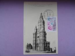 CARTE MAXIMUM MAXIMUM CARD ABBAYE DE ST AMAND LES EAUX SUR CPA FRANCE - Cartes-Maximum