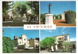 13 - ST VICTORET - Multivues : La Place, Monument Aux Morts, L'Eglise, La Mairie - Ed. NEP - Photo Alain Nappi - 2x - Otros Municipios