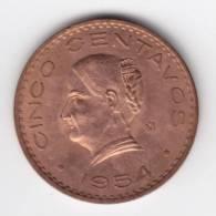 @Y@  Mexico Cinco Centavos  / 5 Cent   1954  UNC   (C189) - Mexico