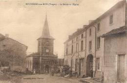 D88. BOUXIERES-AUX-BOIS. LA MAIRIE ET L'EGLISE. - France