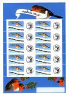Bloc Personnalisé Meilleurs Voeux Rouge Gorge Avec Logo Cérés YT 3621 A . Maury N° 17 : 60 € . Timbres Sans Phosphore - Personnalisés