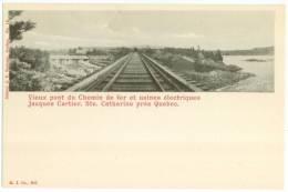 STE-CATHERINE (près De Québec) - Vieux Pont Et Usines électriques Jacques Cartier  - J.P. Garneau, édit. - Quebec