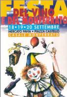 RZ552 - FESTA DEL VINO E DEL MONFERRATO CASALE MONFERRATO - N.VG. A.1998 - Alessandria