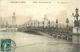 PARIS 7 - Pont Alexandre III Le 27 Janvier 1910 - Crue De La Seine - Distretto: 07