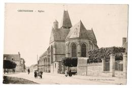 CHEVRIERES - Eglise - Rue Animée - Carte Vierge - France