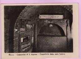 CPM 10*15/M818/ROMA CATACOMBE DI S. AGNESE CAPPELLA DETTA DELLA SABINA - Roma (Rome)