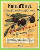 06 - NICE - Etiquette Huile D´Olive - Maison Maïstre & Camous - Fruits & Vegetables